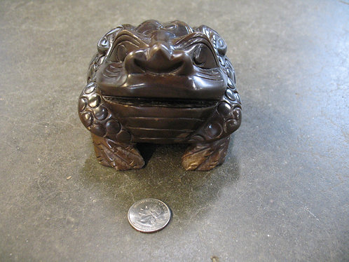 Hand Carved Stone Good Fortune Lucky Frog