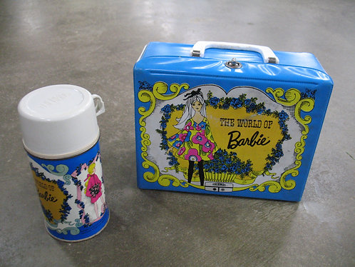 1971 The World of Barbie Vinyl Lunchbox with Thermos