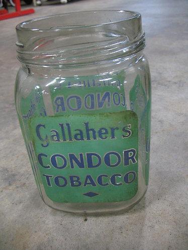 Vintage Gallahers Condor Tobacco Glass Shop Counter Jar