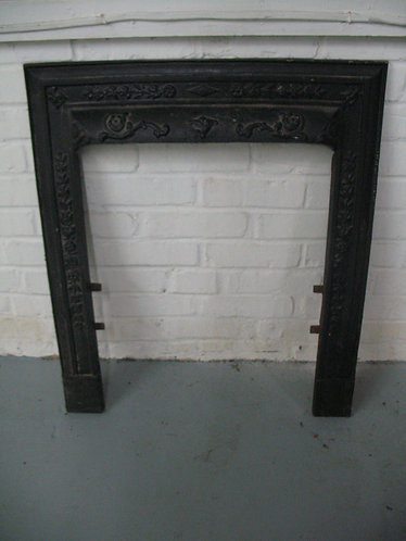 Antique Cast Iron Fireplace Surround