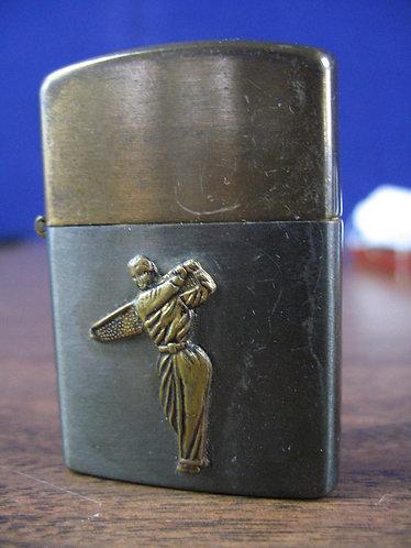 Vintage Craftsman Japan Metal Golfer Lighter