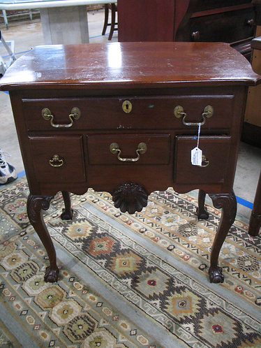 Vintage Link Taylor Mahogany Chippendale Ball and Claw Nightstand End Table