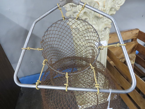 Vintage Collapsible Large Wire Fish Basket