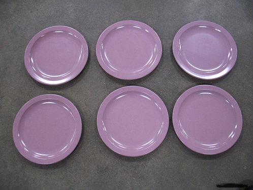 Vintage Texas Ware Dusty Pink Melamine Dinner Plates Set of 6