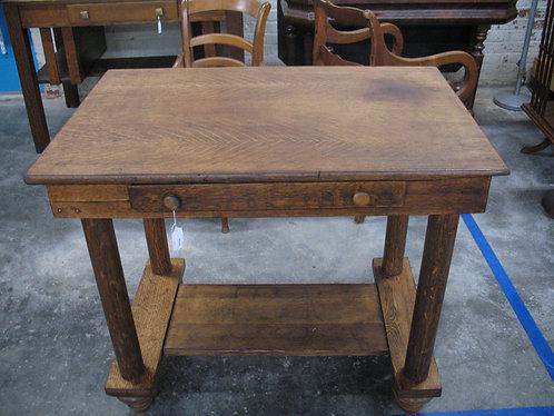 Antique Empire Tiger Oak Library Table