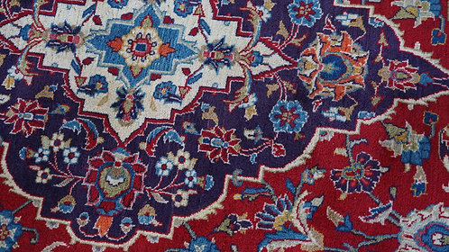 Kashan Traditional Floral Rug, Made in Iran