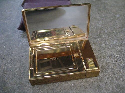 Vintage Volupte Compact With Lipstick Holder