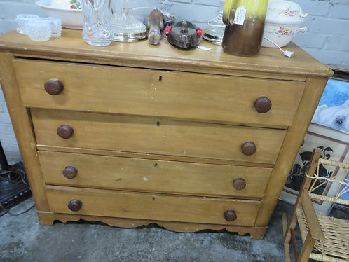 Antique (Circa 1860's) Solid Wood Dresser