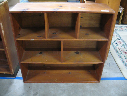 Vintage Solid Wood 6 Section Cubby Shelf