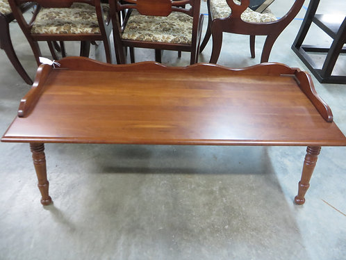 Vintage Ethan Allen Early American Solid Maple Birch Coffee Table