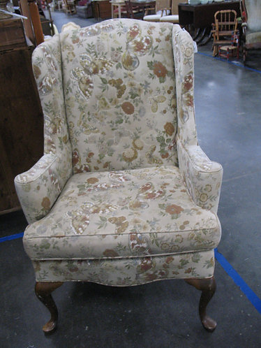 Vintage Wingback Butterfly Upholstery Chair