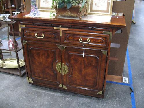 Vintage Bernhardt Oriental Marble Top Bar Server