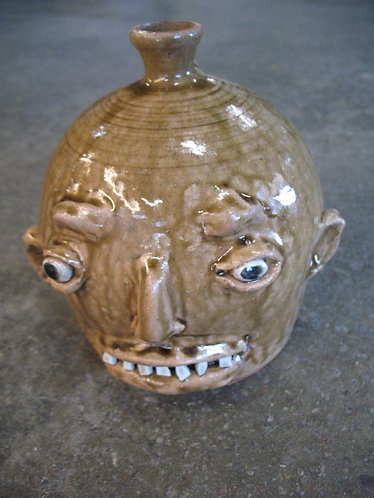 Marvin Bailey Artist Signed Pottery Ugly Face Jug