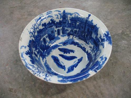 Vintage Victoria Ware Ironstone Flow Blue Bowl