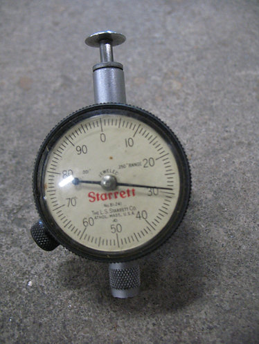 Vintage Starrett 81-241 0-.250 Range Dial Indicator Gauge