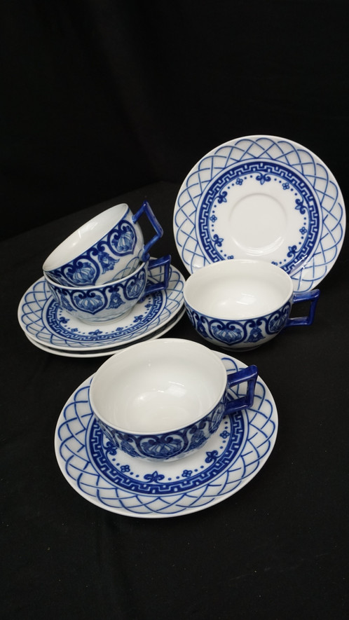 Teacups Sets, 4, Bombay China