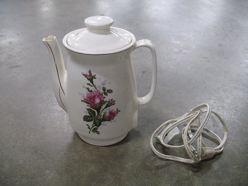 Vintage Made in Japan Roses Electric Tea Warmer Pot