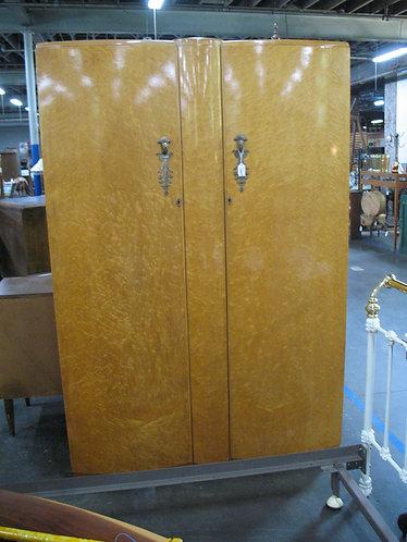 Vintage Birdseye Maple Two Door Armoire