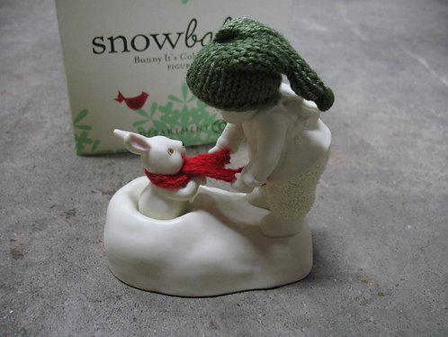 """2012 Dept. 56 Snowbabies """"Bunny It's Cold Outside"""" Figurine"""