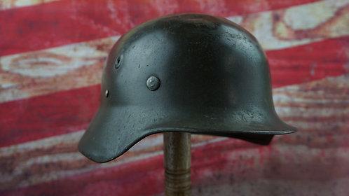 Original German M40 WWII C-1943 Steel Helmet-  M40 NAZI Finnish Plan - Combat?