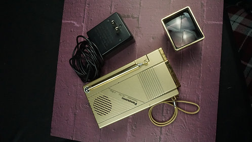 Panasonic Travelvision, Vintage television, tiny!, made in 1984