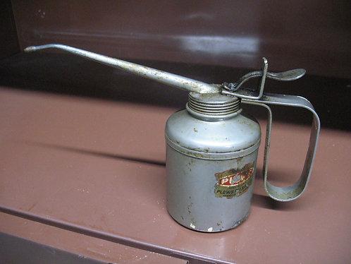 Vintage Plews Oil Pump Oiler Can