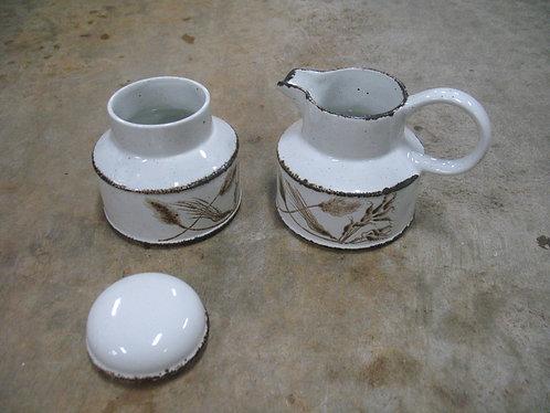 Midwinter Wild Oats Stoneware by Wedgwood Sugar & Creamer Set