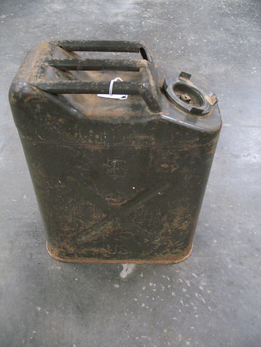 Vintage Military Green Metal Gas Can