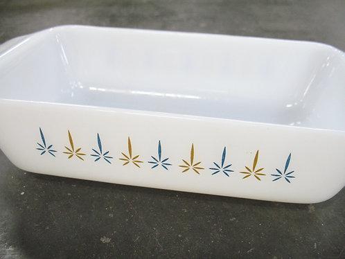 Vintage Fire King Milk Glass Baking Loaf Pan