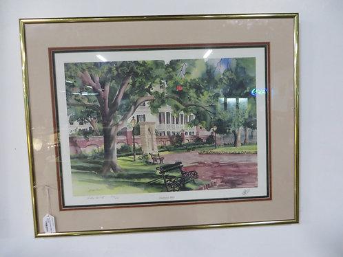 Framed, Signed/Numbered 166/400 Print from Judy Avrett, Charleston 1989
