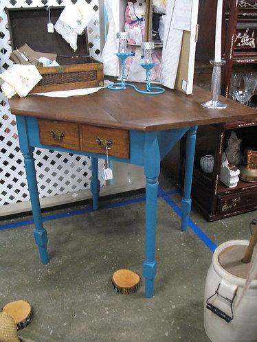 Vintage One Drawer Corner Vanity Desk