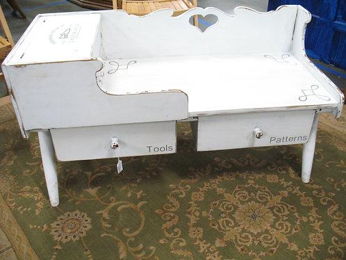 Vintage Drexel Cobbler's Bench Painted & Stenciled Table
