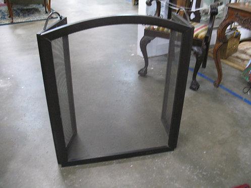 Freestanding Hammered Metal Tri Screen Fireplace Screen