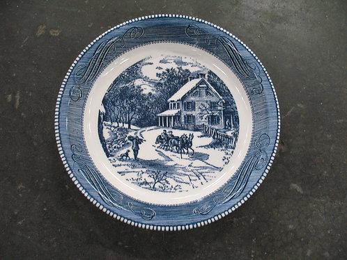 Vintage Royal China Jeannette Blue/White Pie Plate