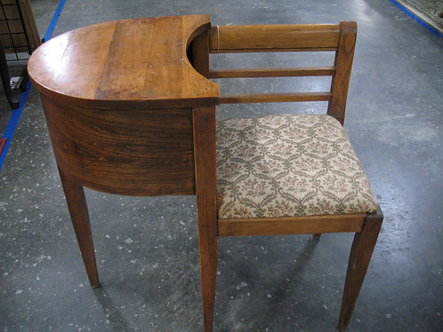 Vintage Upholstered Seat Telephone Table