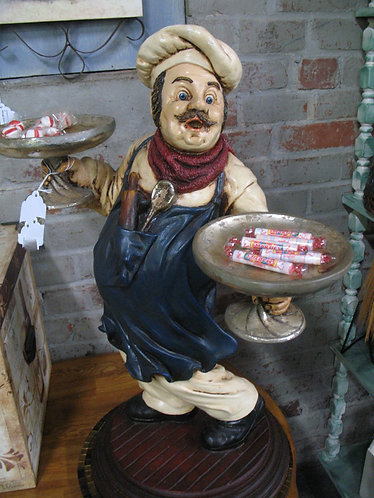 """""""Sergio"""" Resin Pastry Chef with Two Cake Stands"""