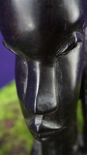 Vintage (Circa 1968) Ebony Wood African Carving Figurine