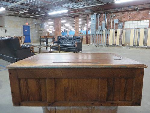 Antique Oak School Master Desk
