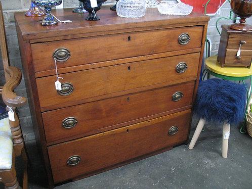 Antique Solid Wood Four Drawer Dresser