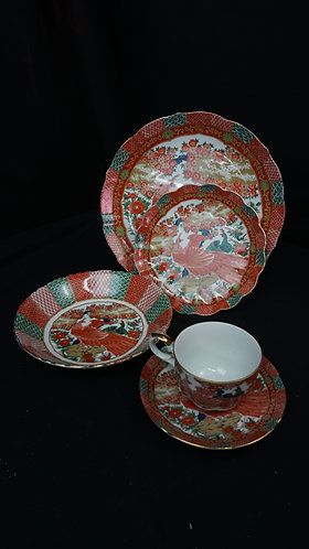 China Imari Peacock by ARITA 4 setting Set