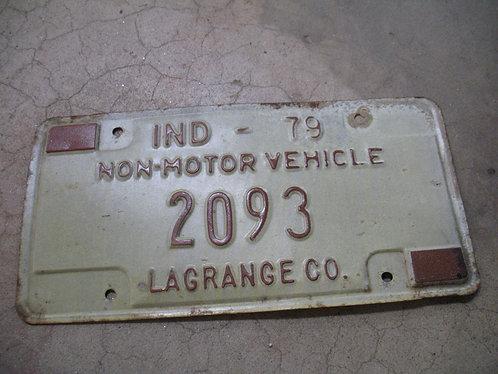 1979 Indiana Non-Motor Vehicle 2093 Lagrange Co.
