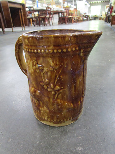 Antique Bennington Pottery Pheasant and Branch Pitcher
