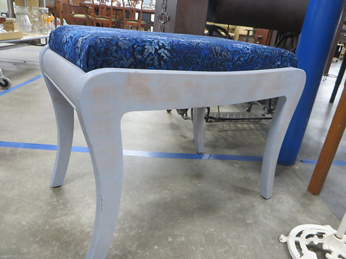 Vintage Hand Painted & Distressed Upholstered Vanity Bench