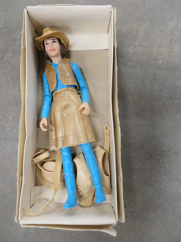 Vintage Janice West Movable Cowgirl Doll by Marx