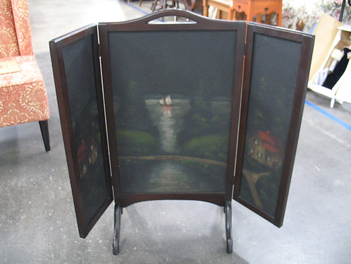 Vintage Style Wood Painted Fireplace Cover