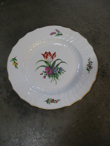 Vintage Royal Copenhagen Handpainted/Numbered Red Tulip Bouquet Gold Gilded
