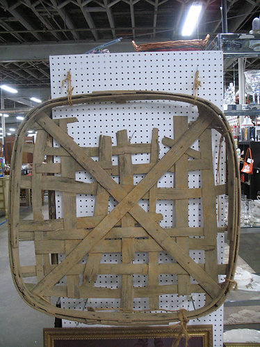 Vintage Rustic Tobacco Basket