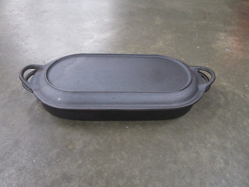 BSR Sportsman Cast Iron Shallow Fish Fryer with Cast Iron Grill Lid