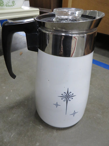 Vintage Corning Ware Star 9 Cup Percolator