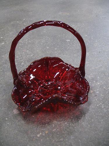2000 Fenton 95th Anniversary Amberina Thistle Basket